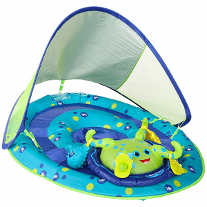 Baby Spring Swimming Pool Float Activity Center with Canopy With Octopus On Amazon