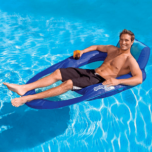 Extra Large Spring Swimming Pool Float Recliner XL Swim Lounger On Amazon