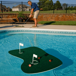 Floating Golf Green Swimming Pool Game With Golf Balls By Blue Wave On Amazon