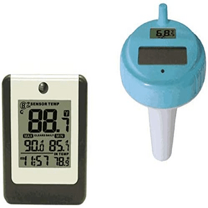 Ambient Weather WS-14 Wireless 8-Channel Floating Pool and Spa Thermometer On Amazon