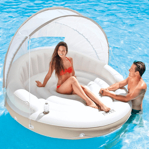 Intex Canopy Island Inflatable Lounge Swimming Pool Float 78 X 59 Inches On Amazon