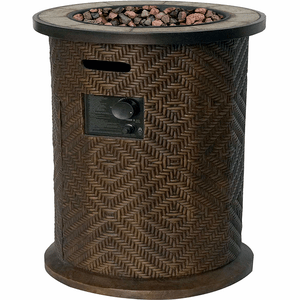 Fairhaven Gas Fire Bowl Table Column With 40,000 BTU In Bronze By Bond Manufacturing On Amazon