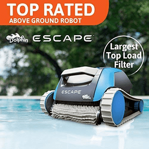 Dolphin Escape Robotic Above Ground Pool Cleaner With Hyperbrush Active Scrubbing On Amazon