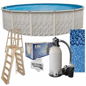 21-foot x 52-inches Meadows Round Complete Above Ground Swimming Pool Kit On Amazon