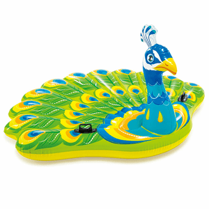 Giant Peacock Inflatable Island Durable Swimming Pool Float By Intex On Amazon