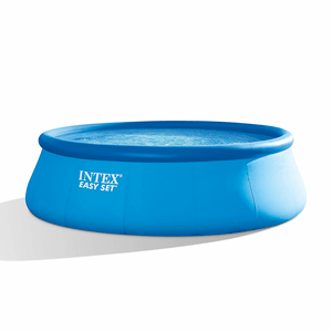 Intex 15 ft x 48 in Easy Set Pool Set With Filter Pump, Ladder, Ground Cloth & Pool Cover On Amazon