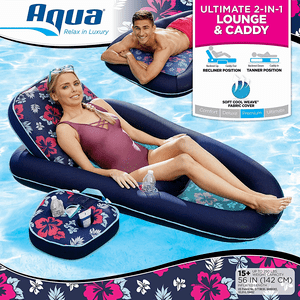 Campania Ultimate 2 in 1 Recliner & Tanner Lounge Inflatable Pool Float On Amazon