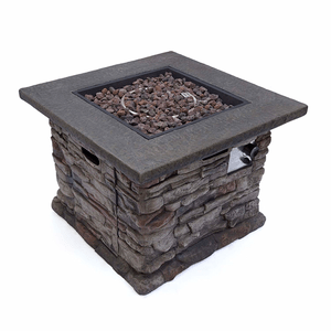 Christopher Knight Home Stone Outdoor Natural Stone Finished Square Fire Pit 40,000 BTU On Amazon
