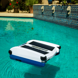 Solar Powered Robotic Pool Cleaner NX2 Cleaning By Solar Breeze On Amazon