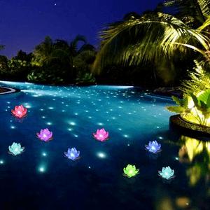 Color Changing Floating Pool Lights Flower Lotus LED Lights On Amazon