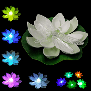 Battery Operated Floating Pool Lights Color Changing Flower Lights On Amazon