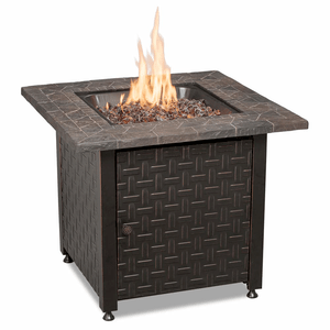 Bronze Outdoor Fire Table Oil Rubbed Multicolor With Wicker Base By Endless Summer On Amazon