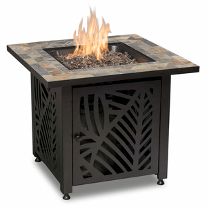 Outdoor Fire Table LP Gas With Integrated Ignition And Slate Tile Mantel By Endless Summer On Amazon