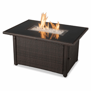 Rectangular Outdoor Fire Pit Table Gas, Brown And Black Fire Table By Endless Summer On Amazon