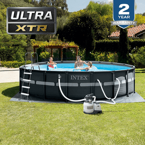 Intex 16 ft x 48 in Ultra XTR Pool Set With Sand Filter Pump, Ladder, Ground Cloth & Pool Cover On Amazon
