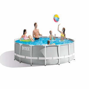 Intex 15ft x 42in Prism Frame Above Ground Pool Set With Filter Pump, Ladder And Cover On Amazon