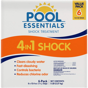 Pool Essentials Fast-Dissolving Shock Treatment Value 6 Pack (13.4 oz Bags) On Amazon