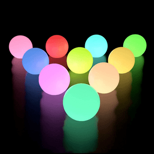 Floating Pool Lights 10 Pack With Timer And Color Changing LED's On Amazon
