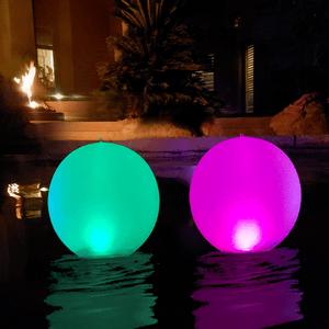 Inflatable Floating Pool Lights Waterproof IP68 Solar Powered On Amazon