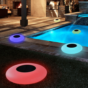 Solar Floating Swimming Pool Lights With Multi-Color LED Lights On Amazon