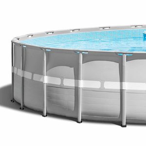 Intex 26ft x 52in Ultra Frame Above Ground Swimming Pool Set with Pump & Ladder On Amazon