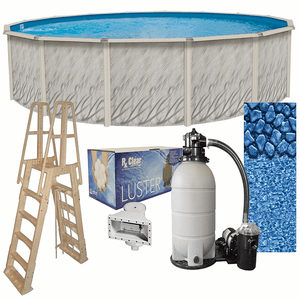 Lake Effect Meadows 21ft Round Above Ground Swimming Pool Complete Bundle Kit On Amazon