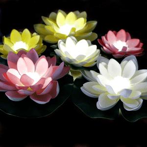 Battery Operated Floating Pool Lights Lotus Flower Waterproof On Amazon