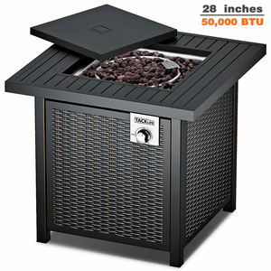 Propane Gas Outdoor Fire Pit Table With 28-Inch Cover And Adjustable Flame By TACKLIFE On Amazon