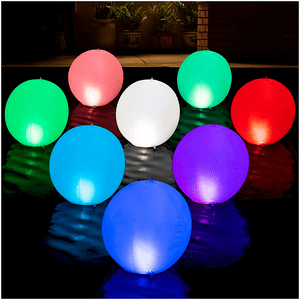 Solar Powered Floating Pool Lights Pack Of 2 LED Color Changing Lights On Amazon
