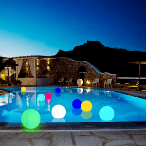 Inflatable Floating Pool Lights 15-Inch Balls For Outdoor Pools On Amazon