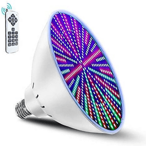 120 Volt LED Pool Light With Remote Control Color Changing Bulb On Amazon